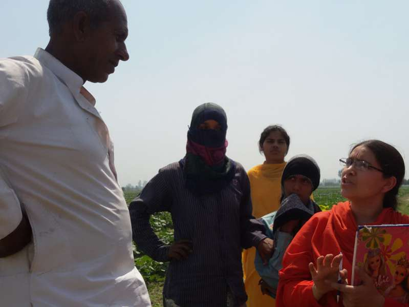 Empowerment Talk with female farmers in Jahidpur