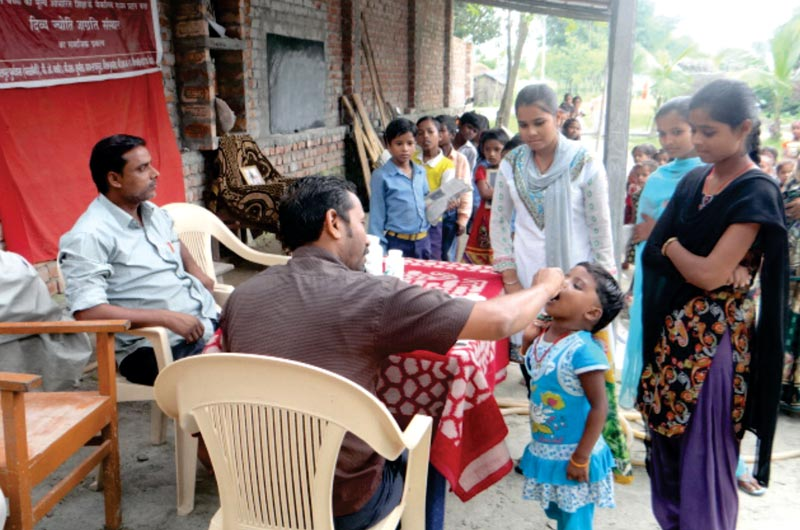 Health Camp organized at Parsauni