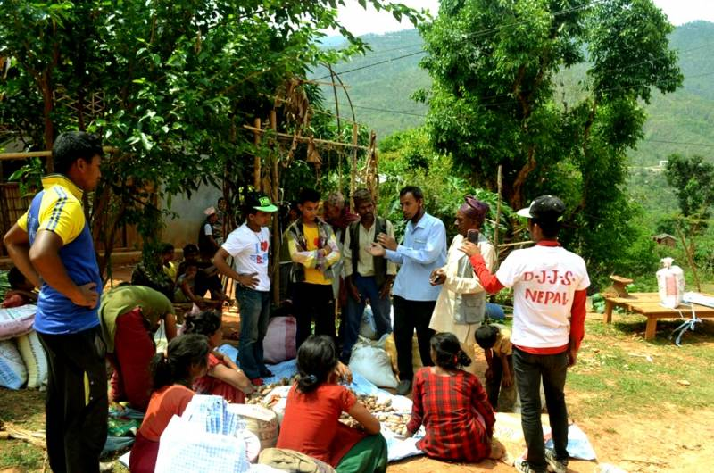 Amidst the fresh jolts, DJJS Nepal continues relief operations in the earthquake struck areas