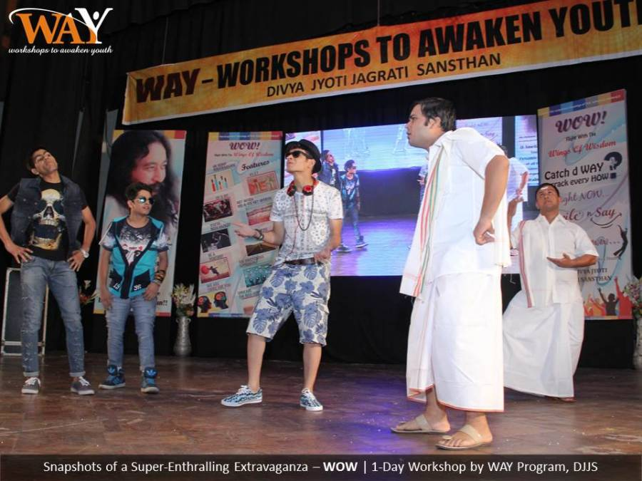 'WOW!- A Flight with the Wings of Wisdom' by WAY (Youth-based program of DJJS) at Aiwan-e-Ghalib auditorium, ITO