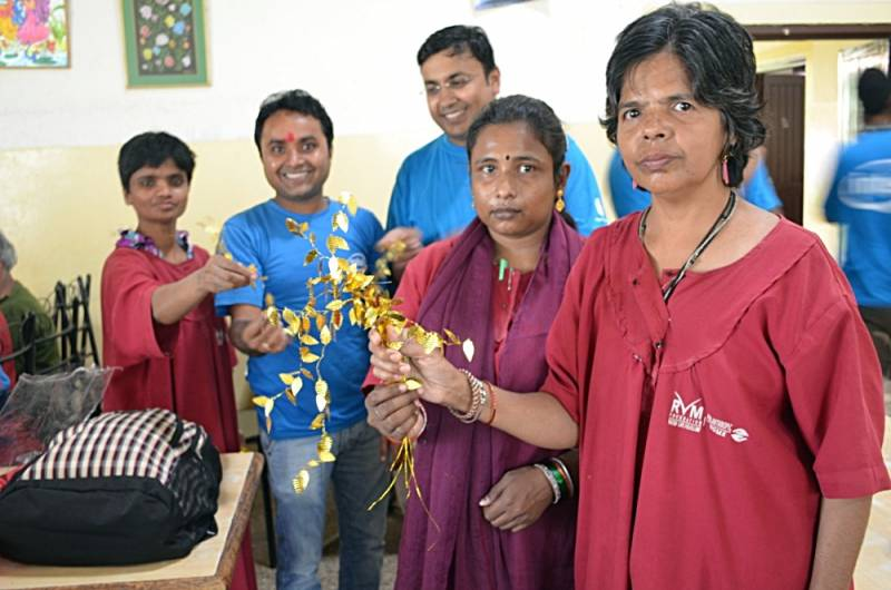 Health services extended to Old Age Home by DJJS Bangalore & Intel