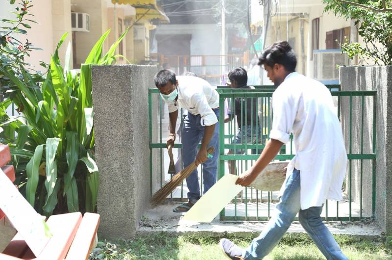 DJJS Rohini Sec- 15 centre urges residents to Rise for a Clean & Green Society