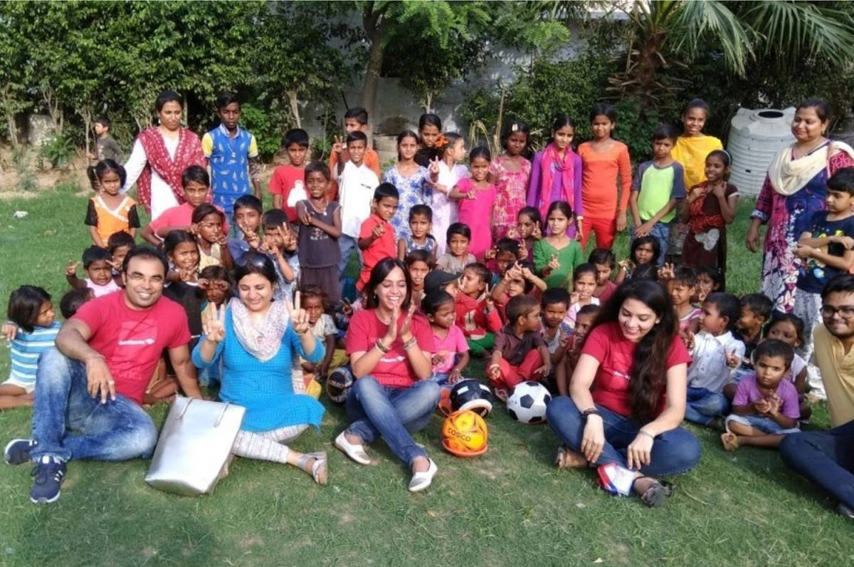 CSR TEAM OF 'BANK OF AMERICA' VOLUNTTERED AT MANTHAN SVK, GURUGRAM, HARYANA