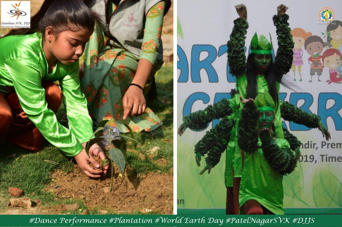 Earth day celebrated @Manthan SVK, Patel Nagar, New Delhi