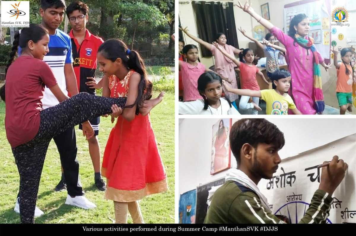 Fun filled educational summer camp organized @Manthan-SVK