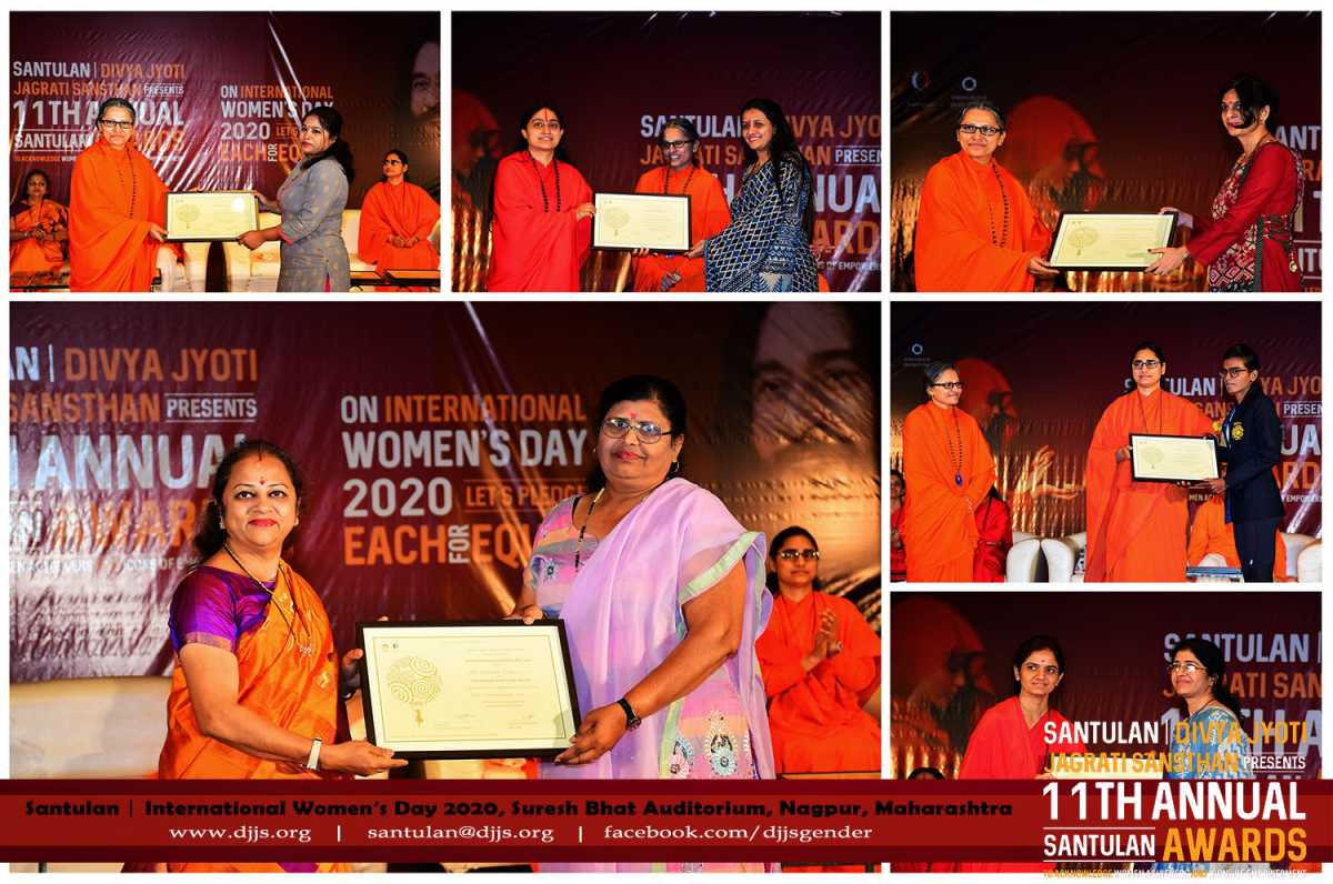 Women masterstrokes cognized through 11th Annual Santulan Awards at Nagpur on IWD 2020